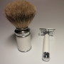 MUHLE SHAVING SET 2 PCS WHITE