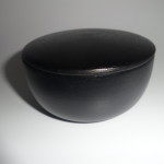 MUHLE SHAVING BOWL BLACK LACQUERED WOOD WITH LID