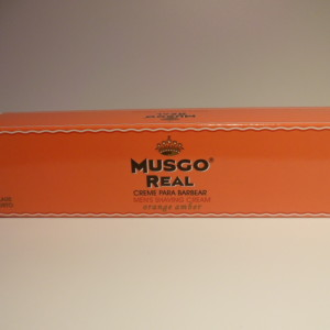 MUSGO REAL SHAVING CREAM ORANGE AMBER